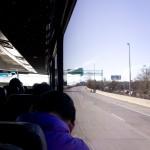 Busfahrt von JFK nach Manhattan.
