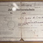Johnny Cash's German fishing license