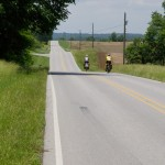 Riding across southern Illinois with Phillip and Linda