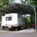 Due to the storms coming through the area we stayed in an RV at Hayes Canyon Campground in Eddyville