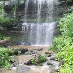 Waterfall at the Rocky Bluff Trail in Illinois