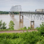 Bridge across the Mississippi River near Chester