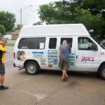 I caught up with parts of the Adventure Cycling Association's TransAm tour group in Pittsburg, KS. They were pretty excited about the ice cream truck.