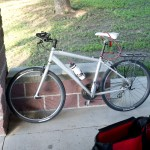I rode around Pittsburg on this mean little machine while my bike was being repaired.