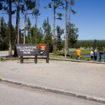 City folks went crazy when they saw an elk at the Yellowstone National Park South Entrance.