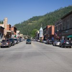 Historic downtown of Wallace, Idaho.